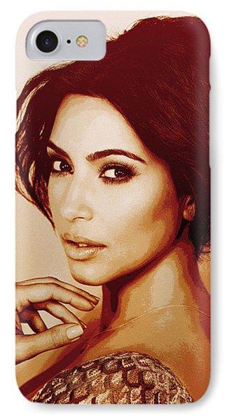 Kim Kardashian Sollievo IPhone Case by Vadim Pavlov
