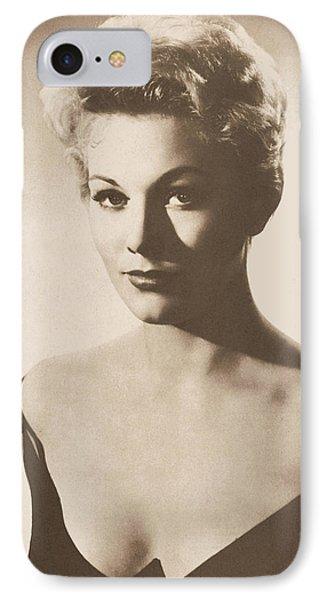 Kim Novak Actress Circa 1955 IPhone Case by Douglas Settle