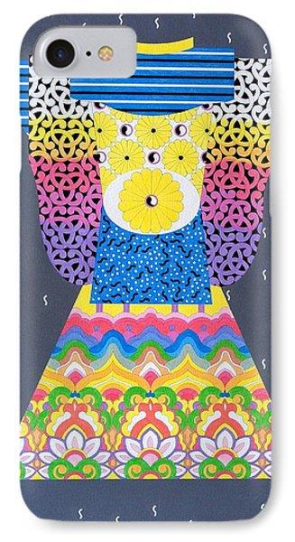IPhone Case featuring the painting Kimono by Thomas Gronowski