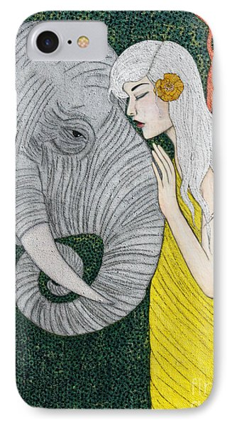 IPhone Case featuring the painting Kindred Souls by Natalie Briney