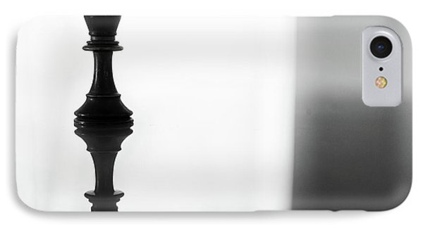 King Chess Piece In Monochrome IPhone Case