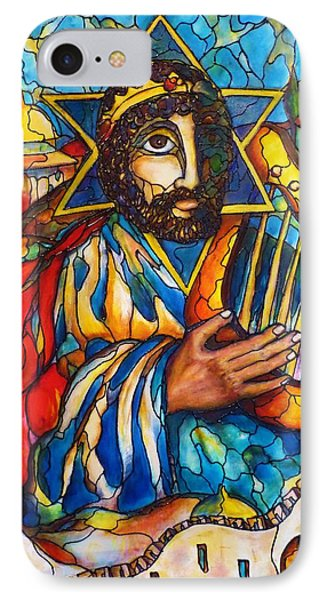IPhone Case featuring the painting King David by Rae Chichilnitsky