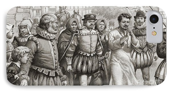 King Henri IIi Of France Doing Penance By Walking Through The Streets Of Paris In A Hair Shirt IPhone Case by Pat Nicolle