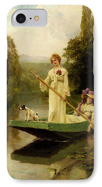 King Henry John Yeend Two Ladies Punting On The River IPhone Case