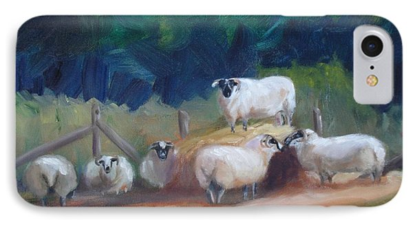 IPhone Case featuring the painting King Of Green Hill Farm by Donna Tuten