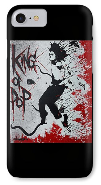 King Of Pop IPhone Case by Renate Dubose