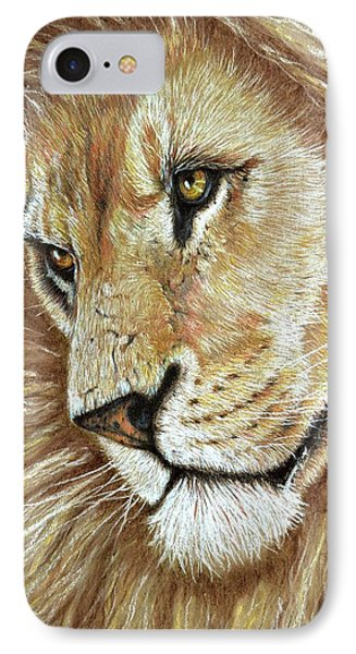 IPhone Case featuring the drawing King Of The Jungle by Heidi Kriel