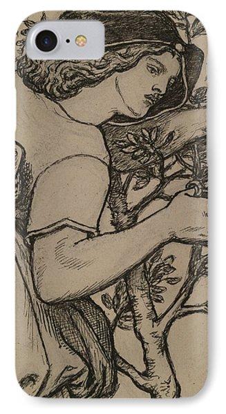 King Rene's Honeymoon  IPhone Case by Dante Gabriel Rossetti
