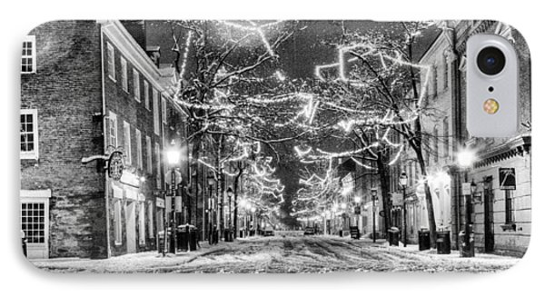 King Street In Black And White Phone Case by JC Findley