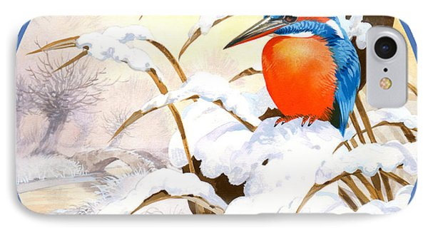 Kingfisher iPhone 7 Case - Kingfisher Plate by John Francis