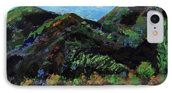 IPhone Case featuring the painting Kings Canyon Fall Colors by Walter Fahmy