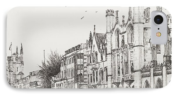 Kings College Cambridge IPhone Case by Vincent Alexander Booth