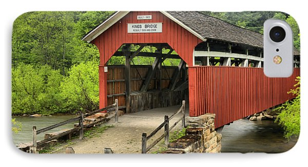 Kings Covered Bridge Somerset Pa IPhone Case by Adam Jewell