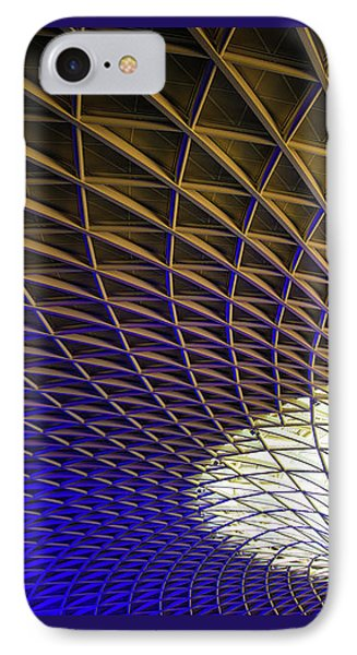 IPhone Case featuring the photograph Kings Cross Railway Station Roof by Matthias Hauser