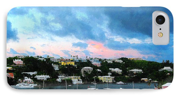 IPhone Case featuring the photograph King's Wharf Bermuda Harbor Sunrise by Susan Savad