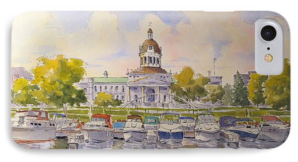 Kingston City Hall And Harbour IPhone Case by David Gilmore