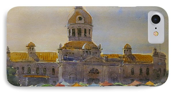 Kingston-city Hall Market Morning IPhone Case by David Gilmore