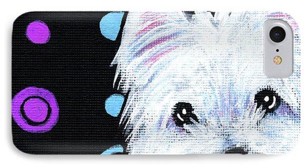 Kiniart Disco Westie Phone Case by Kim Niles