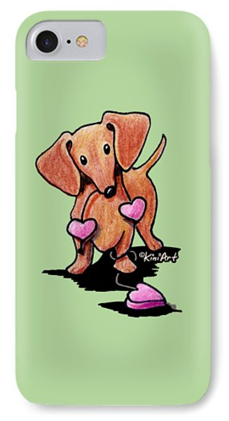 Kiniart Heartstrings Doxie IPhone Case