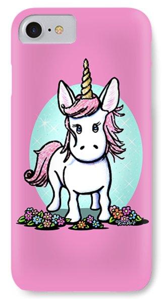 Kiniart Unicorn Sparkle IPhone 7 Case by Kim Niles