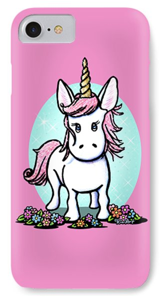 Kiniart Unicorn Sparkle IPhone Case by Kim Niles