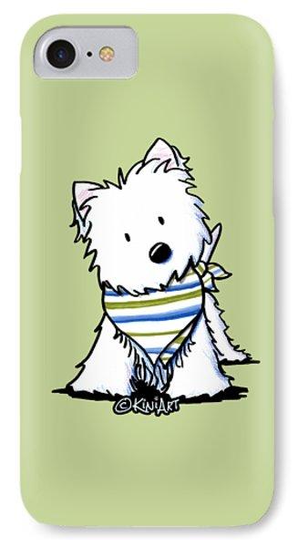 Kiniart Westie Terrier IPhone Case