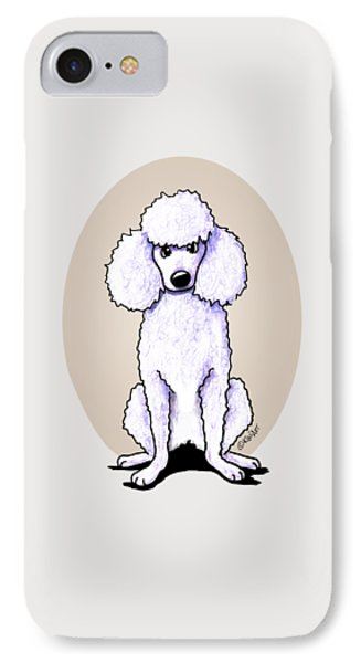 Kiniart White Poodle Phone Case by Kim Niles