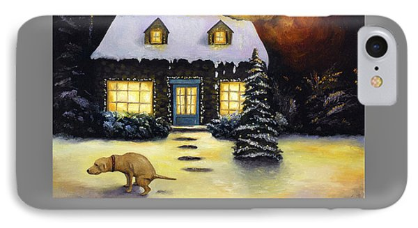 Kinkade's Worst Nightmare For Christmas  IPhone Case by Leah Saulnier The Painting Maniac