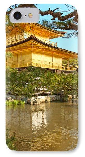 Kinkakuji Golden Pavilion Kyoto IPhone Case by Sebastian Musial