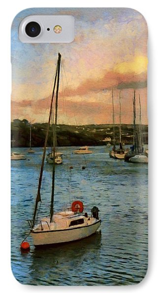 IPhone Case featuring the painting Kinsale Harbour Evening by Jeff Kolker