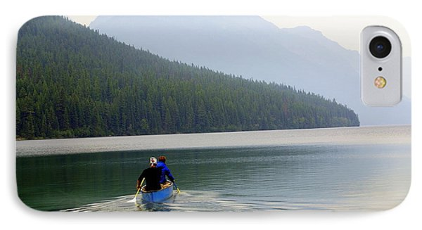 Kintla Lake Paddlers Phone Case by Marty Koch