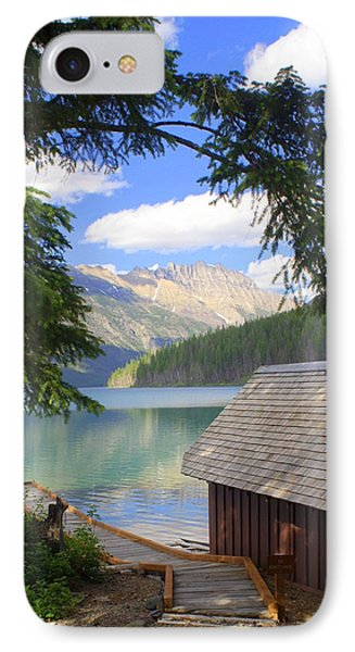 Kintla Lake Ranger Station Glacier National Park Phone Case by Marty Koch