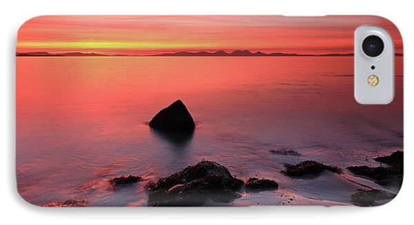 IPhone Case featuring the photograph Kintyre Rocky Sunset 2 by Grant Glendinning