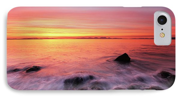 IPhone Case featuring the photograph Kintyre Rocky Sunset 3 by Grant Glendinning