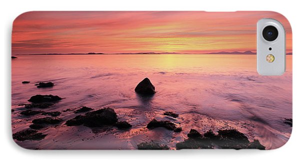 IPhone Case featuring the photograph Kintyre Rocky Sunset by Grant Glendinning