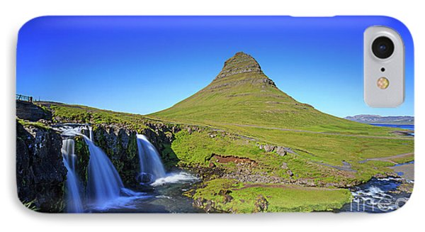 IPhone Case featuring the photograph Kirkjufell Iceland by Edward Fielding