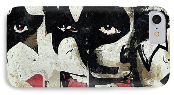 Kiss Art Print IPhone Case