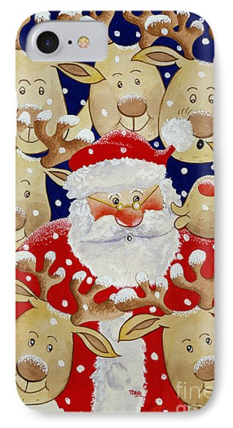 Kiss For Santa IPhone Case by Tony Todd