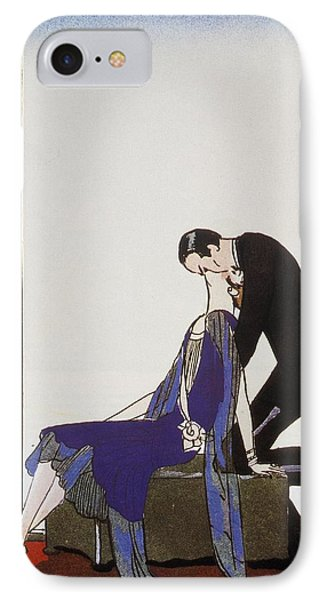 Kiss IPhone Case by Georges Barbier
