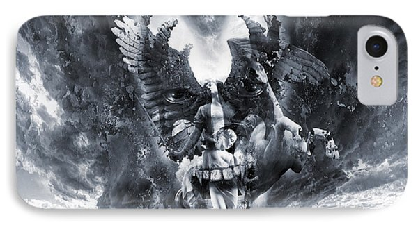 Kiss Of Eros Or Angels And Demons IPhone Case by George Grie