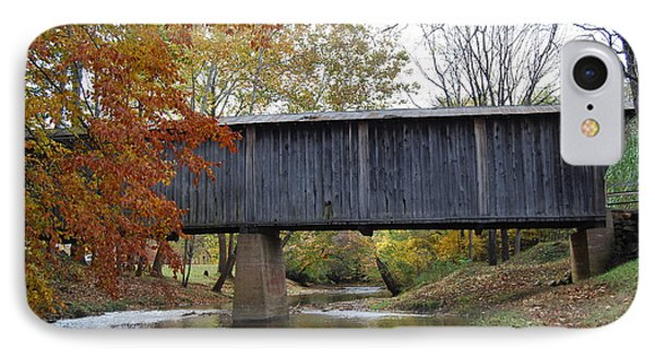 Kissing Bridge At Fall IPhone Case by Eric Liller