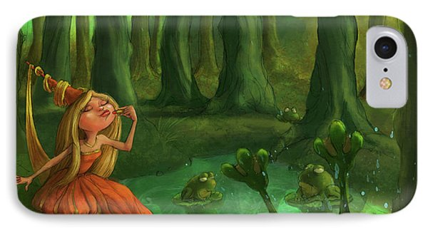Kissing Frogs IPhone 7 Case by Andy Catling