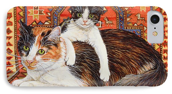 Kit Cat Carpet IPhone Case by Ditz