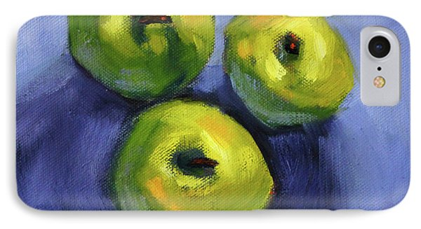 IPhone 7 Case featuring the painting Kitchen Pears Still Life by Nancy Merkle