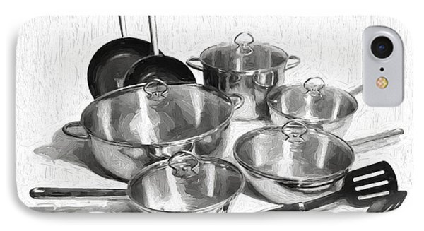 Kitchen Pots And Pans IPhone Case by Garland Johnson