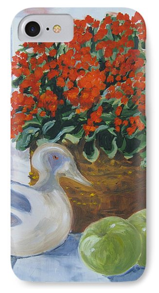 IPhone Case featuring the painting Kitchen Table by Julie Todd-Cundiff