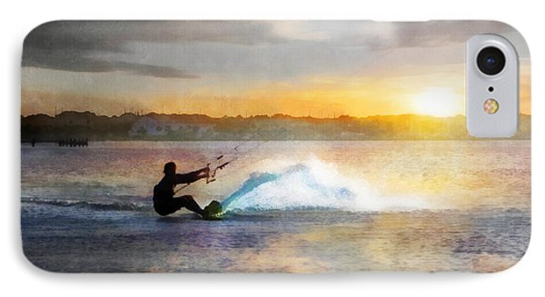 Kite Boarding At Sunset IPhone Case by Francesa Miller