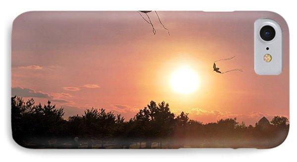 Kites Flying In Park IPhone Case by Matt Harang