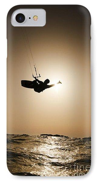 Kitesurfing At Sunset IPhone Case by Hagai Nativ