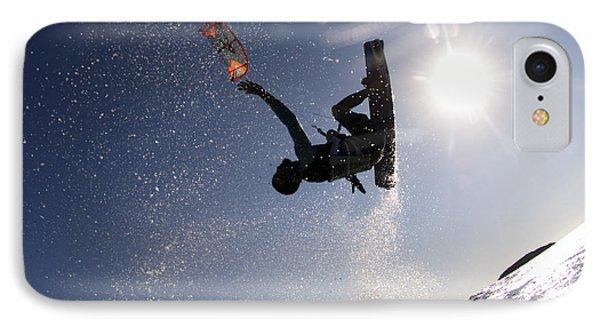 Kitesurfing In The Mediterranean Sea  IPhone Case by Hagai Nativ